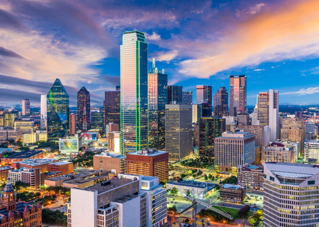 Dallas Texas City Skyline