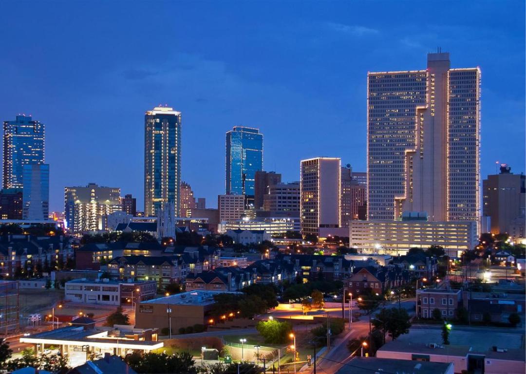Fort Worth City Skyline